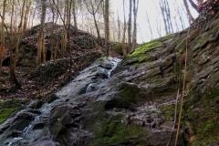 Tetínský vodopád dole