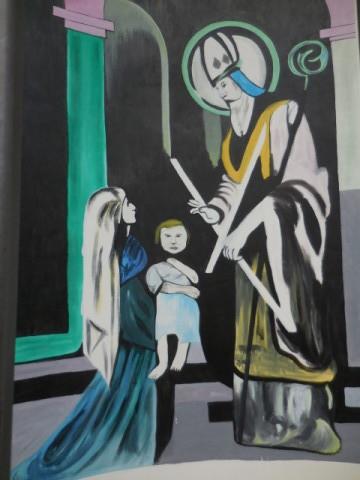 Moderní obraz sv. Blažeje v kapličce na Koukolově hoře