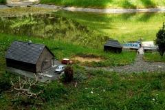 chata s rybníkem